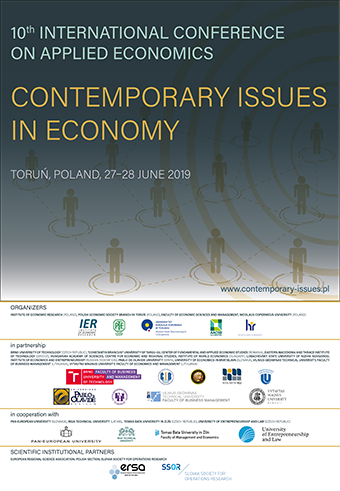 10th International Conference on Applied Economics<br>Contemporary Issues in Economy
